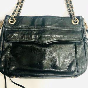 Rebecca Minkoff Black Shoulder Bag W Chain